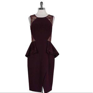 NWT BCBG Max Azria - Whitley Peplum Dress Sz 6